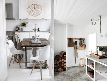 bílá dřevo interiér