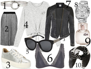 šedý outfit