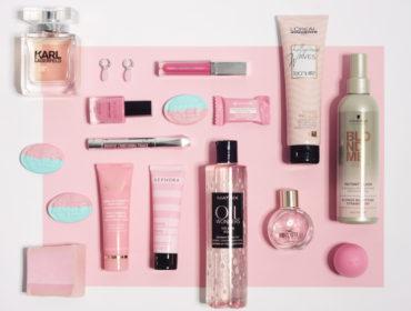 Růžová kosmetika