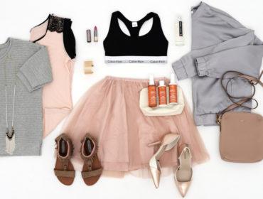 růžová šedá móda